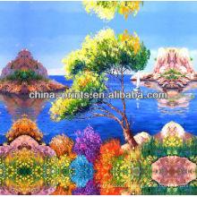 Красочная Handmade картина маслом холстины озера для сбывания