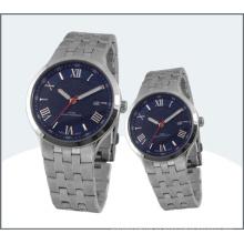Acero inoxidable alto grado par, reloj del cuarzo 15178