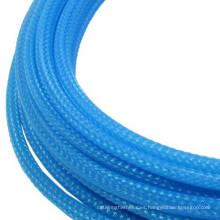 Manguito trenzado con cable Aqua Blue de 10 mm