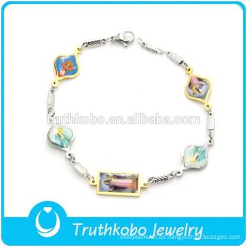 Pulsera personalizada de encanto pulsera de cadena de pulsera de cadena para hombres