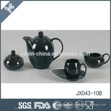 Фарфор подгонял 15pcs дешевый черный двойной комплект чая счастья
