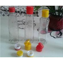 Прозрачные пустые стеклянные бутылочки для кунжута для приправы с крышками