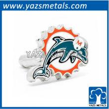 mancuernas de diseñador customiz, mancuernas personalizadas de delfines de Miami