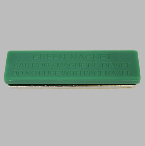 neodymium name tag green plastic