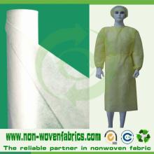 Paño no tejido desechable para vestidos quirúrgicos