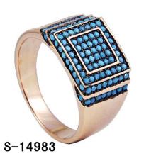 Anillo de plata esterlina 925 de la joyería de imitación con turquesa