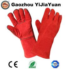 Gants de soudure en cuir séparés à la vache de l'usine de Gaozhou, en Chine avec l'approbation CE