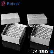 Boîte de congélation en carton 81 puits pour tube cryogénique de 5 ml