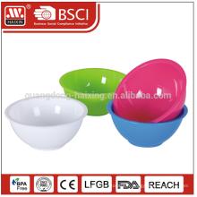 Produit de qualité alimentaire incassable toute vente que la superficie requise saladier en plastique