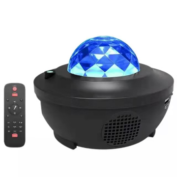 USB LED Sound Activated Night Light Projector Romantic Star Music Starry Water Wave Projector Light Projector Bedroom