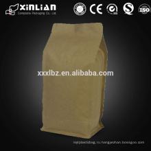 Высокое качество doypack kraft бумажный мешок / kraft бумага кофейный пакет упаковка сумка