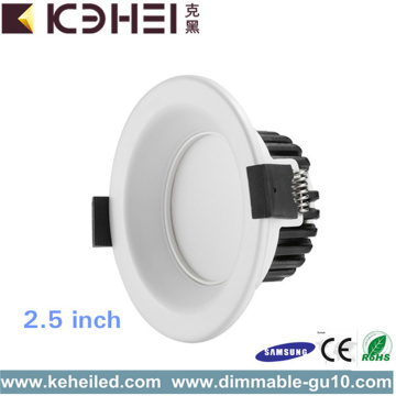 Downlights LED de 5W o 9W de 2,5 pulgadas no regulables