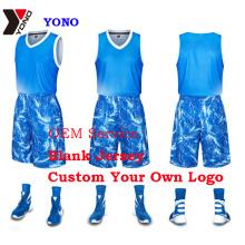 Chemise faite sur commande de basket-ball d'impression d'uniforme de basket-ball d'impression de basket-ball sublimée 100% polyester