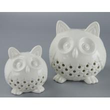 Горячие продажи Декоративные керамические Сова Подсвечник