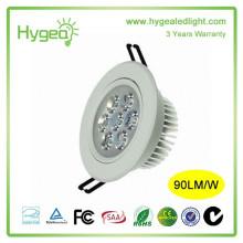 2015 hot sale haute qualité led downlight 7W Downlight économie d'énergie AC 85-265V