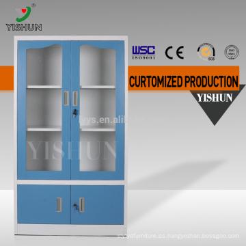 Gabinete de puerta de vidrio deslizante moderno / gabinete de almacenamiento de oficina