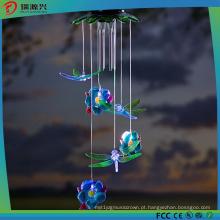 Windchime solar das libélulas para a decoração de Gardon, de partido e de festival