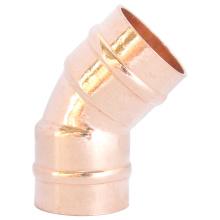 45 ° Anillo de soldadura Codo de cobre