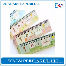 Производитель Китай прямых продаж подгонянный дизайн настольный календарь