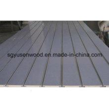 Melamine Slot MDF / Slot Melamine MDF Board Factory / Wholesale Slatwall