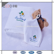 White 32S Thickness Cotton Bath Towel Wholesale Hotel Collection Towels with Embroidery