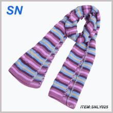Bufanda larga rayada de la manera para las señoras