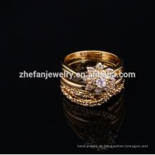 2018 elegante Modeschmuck Ring-Set