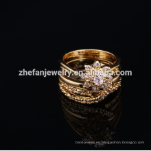 2018 elegante conjunto de anillo de joyería de moda