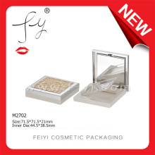 Royal Square Luxury Compact Powder Packaging With Mirror
