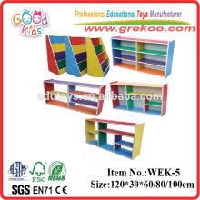 2014 new wooden bookshelf for kids,popular wooden kindergarten bookshelf ,hot sale kindergarten bookshelf