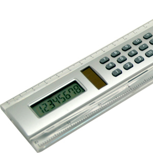 20cm length ruler with 8 digits calculator