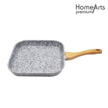 Square Aluminum Die-cast FryPan With Granite Coating