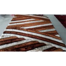 China 100% Polyester Seide Shaggy Teppich Teppiche