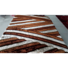 Chine 100% Polyester Soie Shaggy Tapis Tapis
