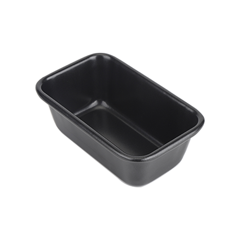 "7""10""carbon steel bread loaf pan-black01"