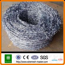 Galvanisierter oder PVC-überzogener Stacheldrahtzaun