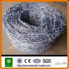 Clôture de barbelé galvanisé ou enduit de PVC