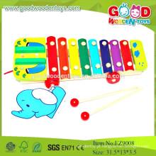 EZ9008Hot Vendo Brinquedos Musicais de Crianças, Elefante, Cordão Xilofone, Brinquedo Musical de Madeira, Brinquedos Educativos Musicais