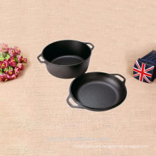 2 pieces non stick bbq grill pan and pot