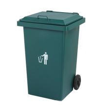 Cubo de basura exterior de hierro 240L con ruedas (YW0011)
