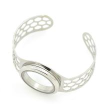 Top venda em aço inoxidável pulseira de punho de prata de largura, pulseiras desejo