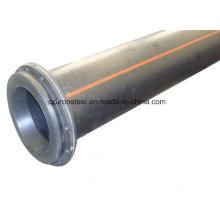 Tubo de dragado de HDPE con brida