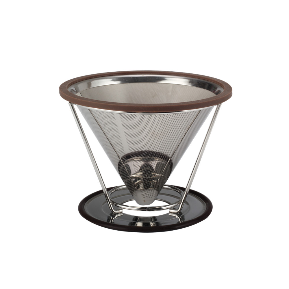 Stainless Steel Pour Over Coffee Dripper Filter Coffee Dripper