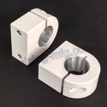 Alumínio Extrusão CNC Machining Alumínio Clamp com pó revestido branco