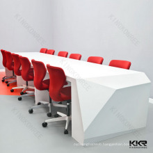 White Solid Surface Acrylic Bar Table customize by KKR
