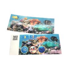 Bilhete RFID com impressão personalizada para Underwater World Park
