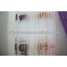 Novo estilo europeu sheer cortina tecido