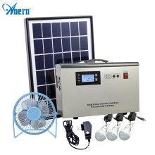 Mini portable solar power generator system station