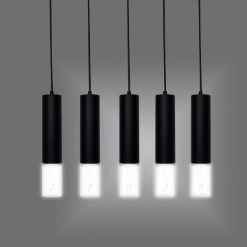 Lampe de table de bar LED à lustre cylindrique long tube