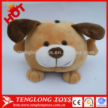Lovely stuffed dog shaped toy coin bank for kids saving money